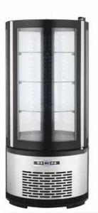 ARC100B Vetrina refrigerata ventilata rotonda con illuminazione led - capacità 100 lt.