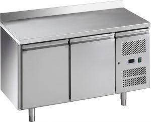 G-GN2200BT-FC Table réfrigérée ventilée avec dosseret, structure en acier inoxydable Aisi201