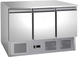 G-S903TOP-FC Saladette réfrigérée statique, AISI201, 3 ports