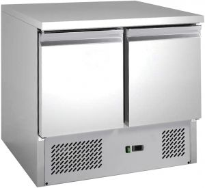 G-S901-FC Table à saladette avec réfrigération statique avec 2 portes et structure en acier AISI201