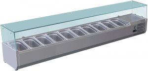 VRX2000-330-FC Vitrine réfrigérée en inox AISI 201 pour lavabos
