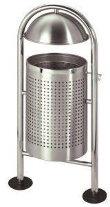 T106062 Corbeille acier inox extérieur 30 litres