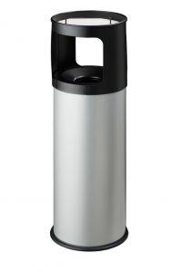 T775032 Portacenere-gettacarte 30 litri ANTIFUOCO metallo grigio con sabbia