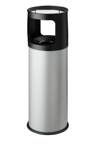 T775032 Portacenere-gettacarte Antifuoco metallo grigio 30 litri con sabbia