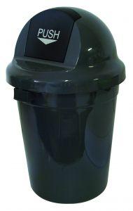 T102010 Push bin plastic grey 110 liters (multiple 3 pcs)