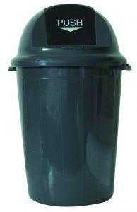 T102011 Push bin plastic grey 80 liters (multiple of 4 pcs)