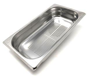 GST1/3P150F Contenitore Gastronorm 1/3 h150 forato in acciaio inox AISI 304