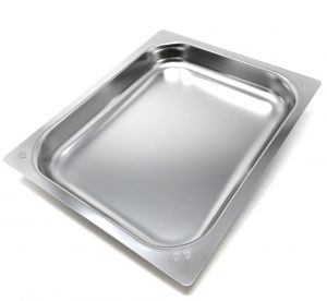 FNC1 / 2P040 Gastronomy ture 1/2 h40 in stainless steel AISI 304 flat edge