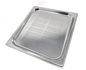 GST2/3P020F Contenitore Gastronorm 2/3 h20 forato in acciaio inox AISI 304