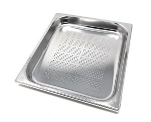 GST2/3P040F Gastronorm Container 2 / 3 h40 perforated stainless steel AISI 304