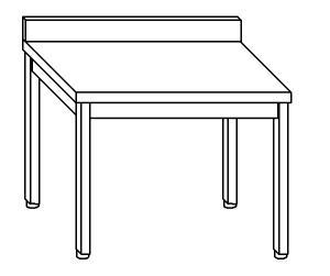 TL5097 Tavolo da lavoro in acciaio inox AISI 304 alzatina 50x60x85