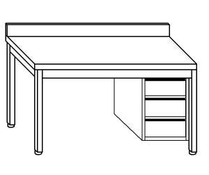 mesa de trabajo TL5113 en acero inoxidable AISI 304
