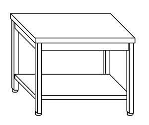 TL5241 Tavolo da lavoro in acciaio inox AISI 304 ripiano 50x70x85