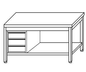mesa de trabajo TL5273 en acero inoxidable AISI 304