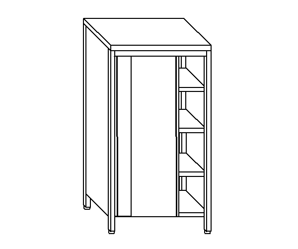 armoire neutre en acier inox aisi 304 avec portes coulissantes taille 100 cm. Black Bedroom Furniture Sets. Home Design Ideas