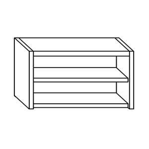 PE7001 pared unidad con un estante de acero inoxidable L = 80 cm