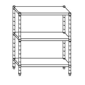 SC8068 shelf aluminized steel 70x40x160 cm