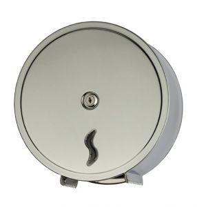 T105001 Distributore di carta igienica acciaio Inox AISI 430 brillante 200 metri