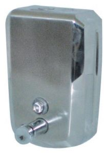 T105031 AISI 304 stainless steel Soap dispenser push system 0.8 l.