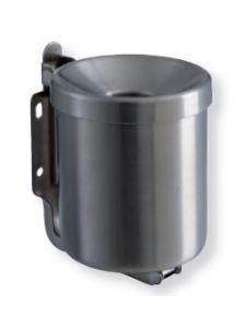 T106001 Cenicero de pared en acero inox satinado 0,5 litro