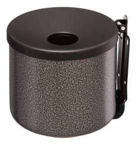 T106004 Cenicero de pared en acero inox satinado 2 litros
