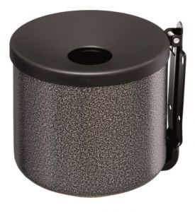 T106004 Dapple Silver steel coated Wall mounted ashtray 2 liters