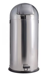 T106021 Gettacarte acciaio inox brillante a pedale 52 litri