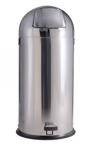 T106021 Poubelle acier inox brillant à pédale 52 litres