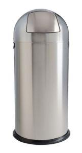 T106031 Papelera push acero inox brillante 52 litros