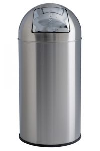 T106051 Papelera push acero inox satinado 40 litros