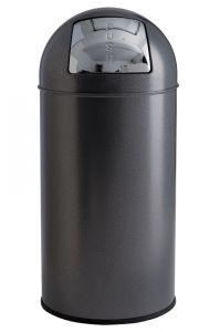 T106052 Papelera push metal silver 40 litros