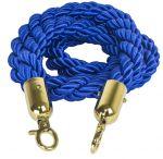 T106330 Cordone blu gancio dorato per sistema divisorio 1,5 metri