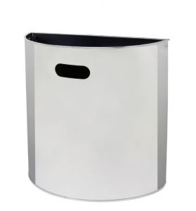 T773030 Polished stainless steel wall mounted waste bin 20 liters