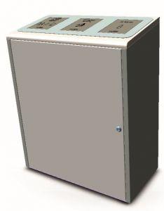 T789075 Contenedor para recogida separada residuos acero inox satinado 3x40 litros