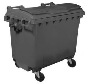 T910660 Conteneur à déchets 4 roues 660 litres GRISE sans couverce