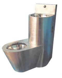 LX3650 Blocco Professionale combinato WC con lavabo - versione Sinistra - satinato