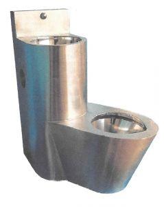 LX3680 Combinación profesional de WC con lavabo - Versión derecha - satinado