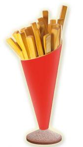 SR007 Pommes de terre frites - cornet de pomme de terre publicitaire 3D pour une hauteur de 180 cm