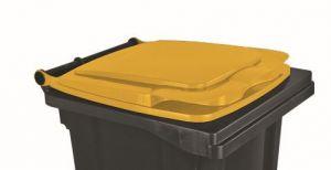 T910131 Coperchio Giallo per contenitore rifiuti esterni 120 litri