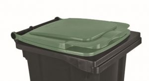 T910133 Couvercle vert pour conteneur à déchets externe 120 litres