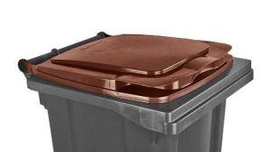 T910134 Couvercle marron pour conteneur à déchets externe 120 litres
