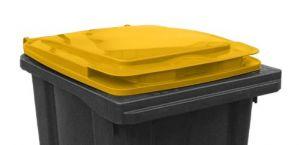 T910251 Couvercle jaune pour poubelle externe 240 litres