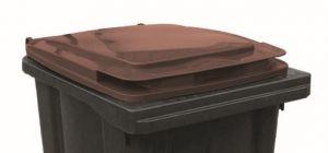 T910254 Couvercle marron pour poubelle externe 240 litres