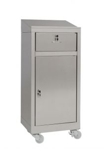 IN-699.03.430C Cabinet walk-in counter with a drawer in AISI 430 steel - dim. 50x40x115 H
