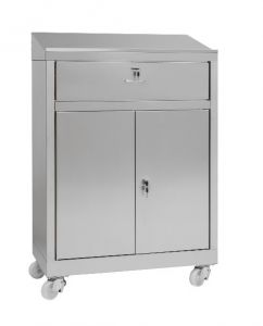 IN-699.04.430C Cabinet desk with 2 doors cabinet with drawer in AISI 430 - dim. 80x40x115 H