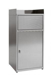 IN-Z.701.01 Vide-corbeilles en tôle plastifiée - Dim. 60x60x120 H