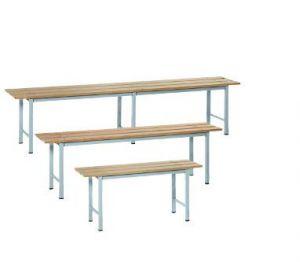 IN-P.4.V Bancos de madera pintados - dim. 150x35x45 H