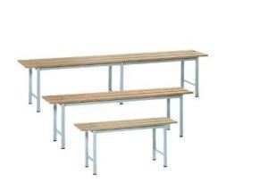 IN-P.5.V Bancos de madera pintados - dim. 200x35x45 H