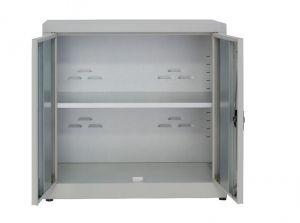 IN-Z.694.15 Gabinete de almacenamiento de plástico con 2 puertas bajas con zinc laminado 100x40x80 H