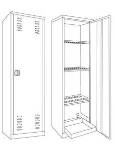 IN-Z.694.11 Gabinete para fitosanitarios recubiertos con zinc 100x45x200 H